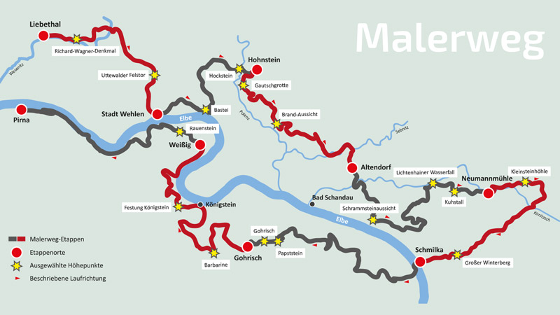 Malerweg Karte
