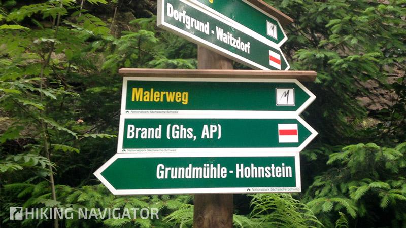 Malerweg-Wegweiser