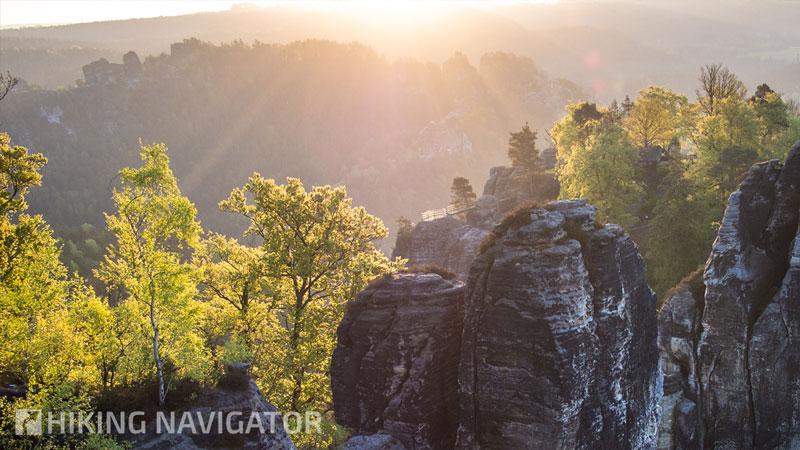 Malerweg Etappe 2: Bastei im Morgenlicht